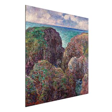 Alu-Dibond Bild - Claude Monet - Felsengruppe bei Port-Goulphar