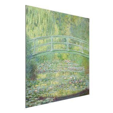 Alu-Dibond Bild - Claude Monet - Seerosenteich und japanische Brücke