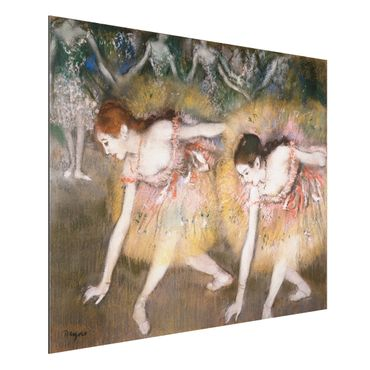 Alu-Dibond Bild - Edgar Degas - Sich verbeugende Ballerinen