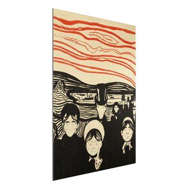 Alu-Dibond Bild - Edvard Munch - Angstgefühl
