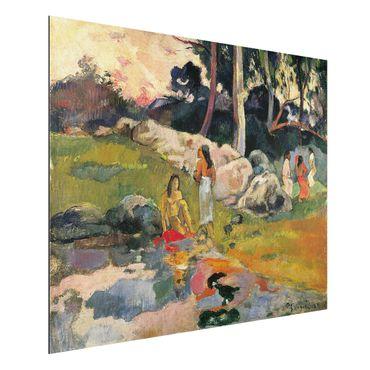 Alu-Dibond Bild - Paul Gauguin - Frauen an einem Flussufer