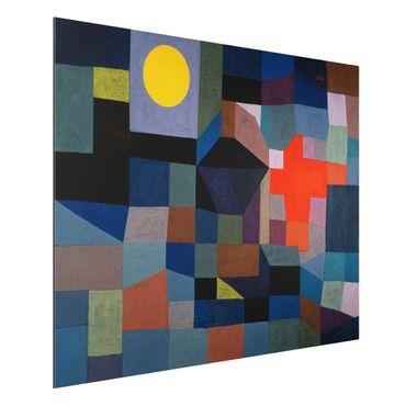 Alu-Dibond Bild - Paul Klee - Feuer bei Vollmond