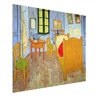 Alu-Dibond Bild - Vincent van Gogh - Van Goghs Schlafzimmer in Arles