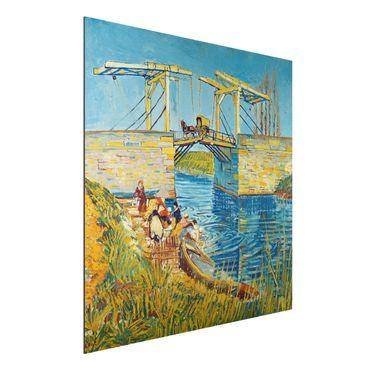 Alu-Dibond Bild - Vincent van Gogh - Zugbrücke in Arles