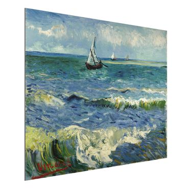 Alu-Dibond Bild - Vincent van Gogh - Seelandschaft in der Nähe von Les Saintes-Maries-de-la-Mer