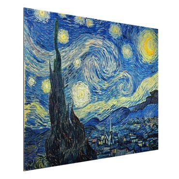Alu-Dibond Bild - Vincent van Gogh - Sternennacht