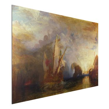 Alu-Dibond Bild - William Turner - Odysseus verspottet Polyphem