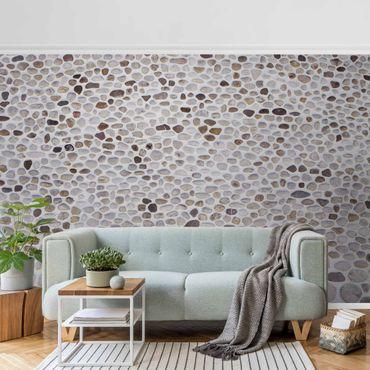 Metallic Tapete  - Andalusische Steinmauer