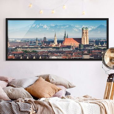 Bild mit Rahmen - München - Panorama Querformat