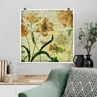 Poster - Vintage Grasses - Quadrat 1:1