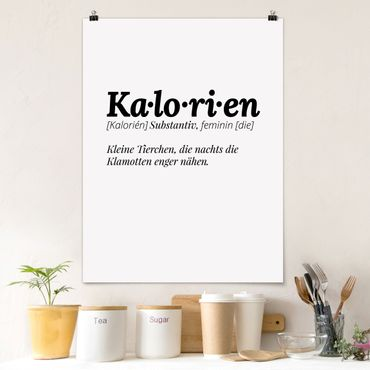 Poster - Die Definition von Kalorien - Hochformat 3:4