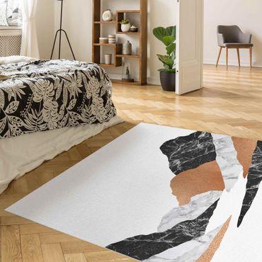 Vinyl-Teppich - Landschaft in Marmor und Kupfer II - Quadrat 1:1