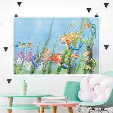 Poster - Matilda die Meerjungfrauenprinzessin - Querformat 2:3