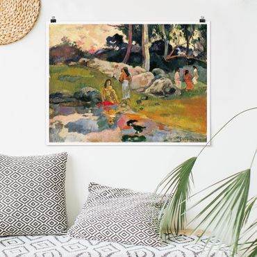 Poster - Paul Gauguin - Flussufer - Querformat 3:4