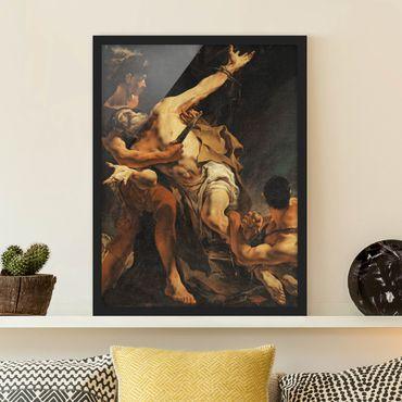 Bild mit Rahmen - Giovanni Battista Tiepolo - Martyrium - Hochformat 3:4