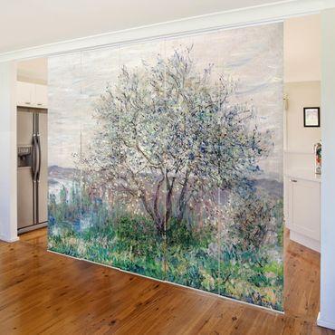 Schiebegardinen Set - Claude Monet - Frühlingsstimmung - 5 Flächenvorhänge