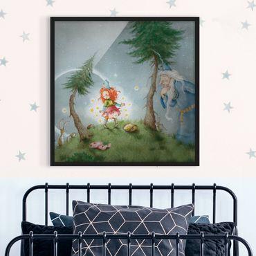 Bild mit Rahmen - Frida lässt die Sterne frei - Quadrat 1:1