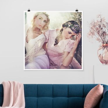 Poster - Spring Nymphs - Quadrat 1:1