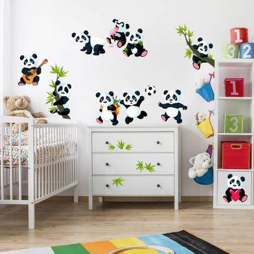 Wandtattoo - Pandabären Mega Set