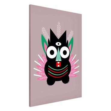 Magnettafel - Collage Ethno Monster - Krallen - Memoboard Hochformat 3:2