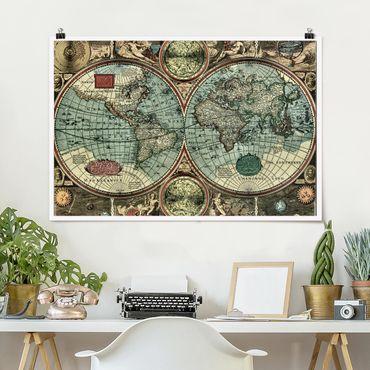 Poster - Die alte Welt - Querformat 2:3