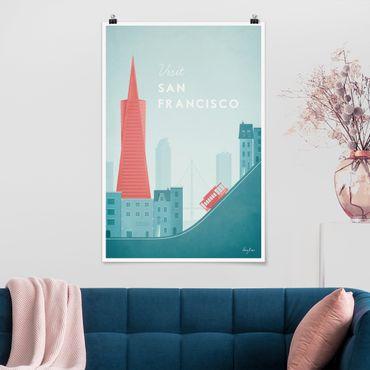 Poster - Reiseposter - San Francisco - Hochformat 3:2