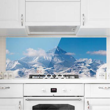 Spritzschutz Glas - Mount Everest - Panorama - 5:2