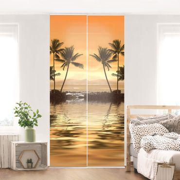 Schiebegardinen Set - Caribbean Sunset I - Flächenvorhänge