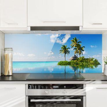Spritzschutz Glas - Tropisches Paradies - Panorama - 5:2