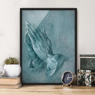 Bild mit Rahmen - Albrecht Dürer - Studie zu Betende Hände - Hochformat 4:3