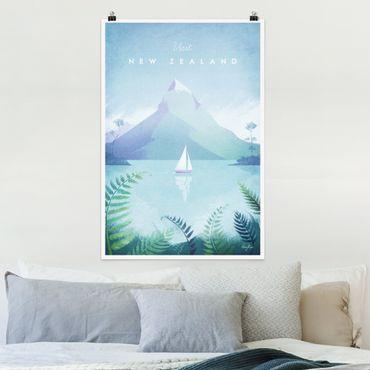 Poster - Reiseposter - Neuseeland - Hochformat 3:2