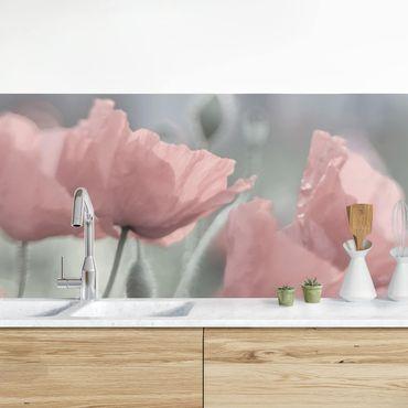 Küchenrückwand - Malerische Mohnblumen