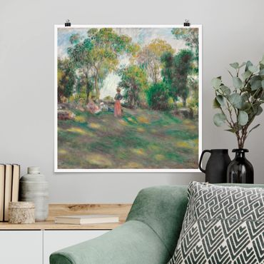 Poster - Auguste Renoir - Landschaft mit Figuren - Quadrat 1:1