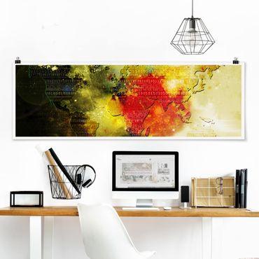 Poster - Worldcode - Panorama Querformat