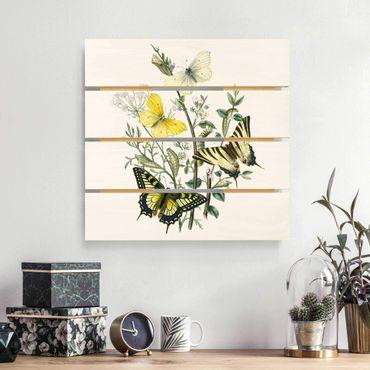 Holzbild - Britische Schmetterlinge III - Quadrat 1:1