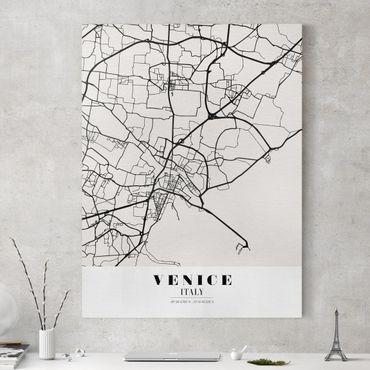 Leinwandbild - Stadtplan Venice - Klassik - Hochformat 4:3