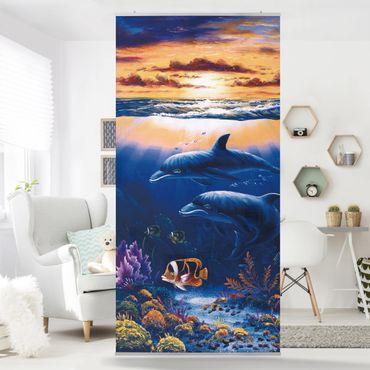 Raumteiler - Dolphins World 250x120cm