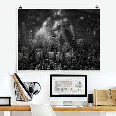 Poster - Sonnenlicht über New York City - Querformat 3:4