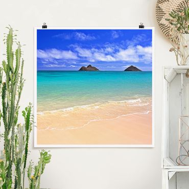 Poster - Paradise Beach - Quadrat 1:1