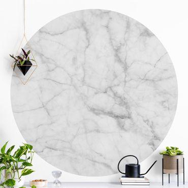 Runde Tapete selbstklebend - Bianco Carrara