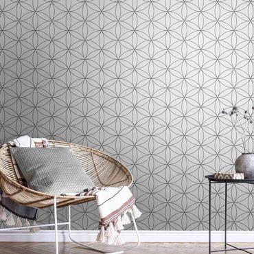 Metallic Tapete  - Blume des Lebens Muster
