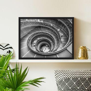 Bild mit Rahmen - Bramante Treppe - Querformat