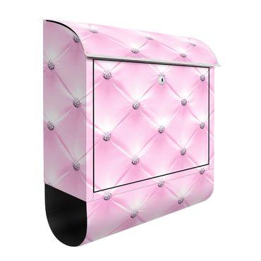 Briefkasten - Diamant Rosa Luxus - Briefkasten mit Zeitungsrolle