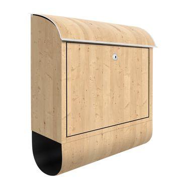 Briefkasten Holz - Apfelbirke - Holzoptik Wandbriefkasten Braun