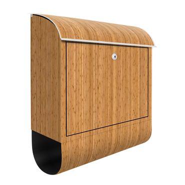 Briefkasten Holz - Bambus - Holzoptik Wandbriefkasten Braun