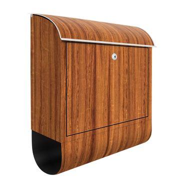 Briefkasten Holz - Freijo - Holzoptik Wandbriefkasten Braun