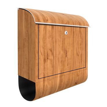 Briefkasten Holz - Libanon Zeder - Holzoptik Wandbriefkasten Braun