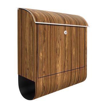 Briefkasten Holz - Macauba - Holzoptik Wandbriefkasten Braun