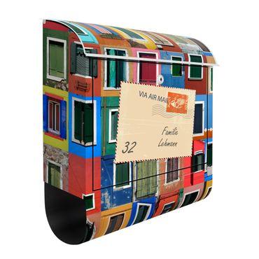 Briefkasten mit eigenem Text & Hausnummer - Fenster der Welt