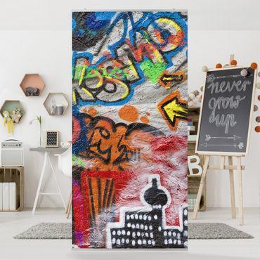 Raumteiler Kinderzimmer - Urban Graffiti 250x120cm